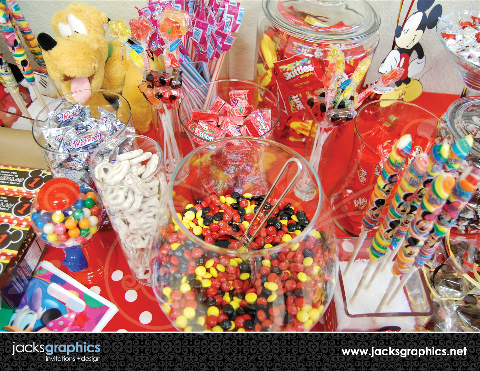 candy station mickey minnie party jacks graphics